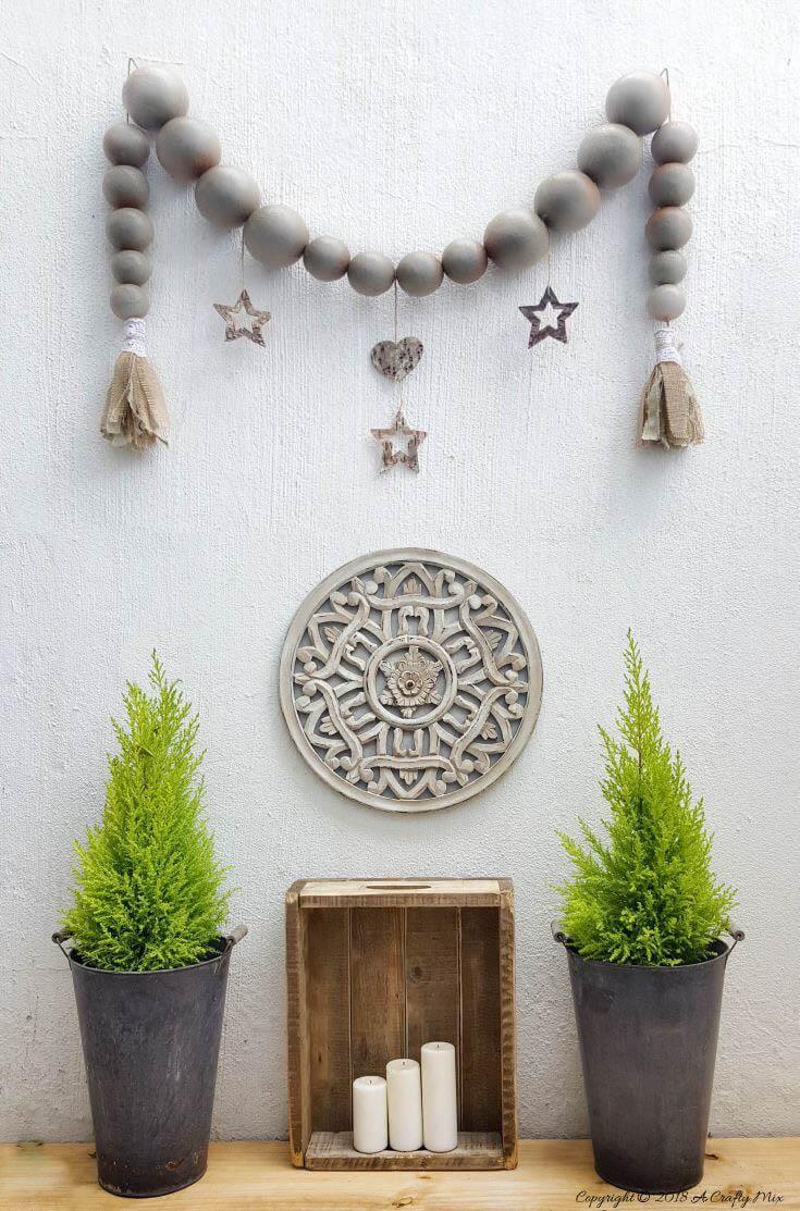 Jumbo Bead Wall Art Garland