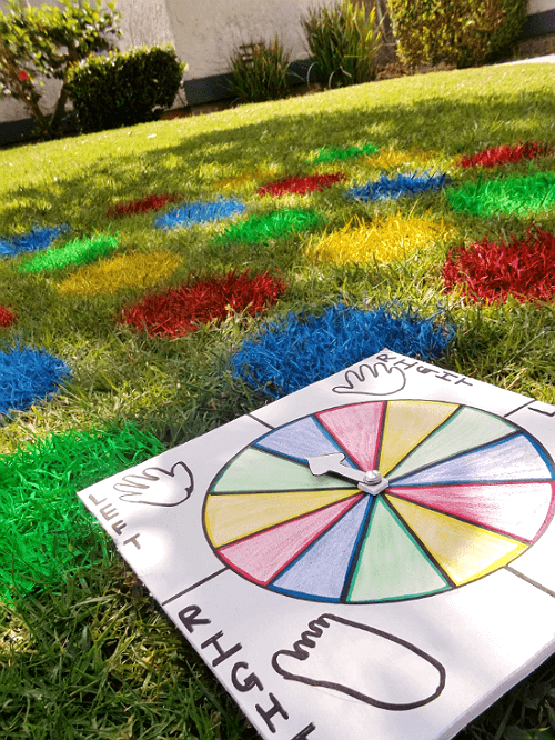 Spray Painted Twister Grass Board
