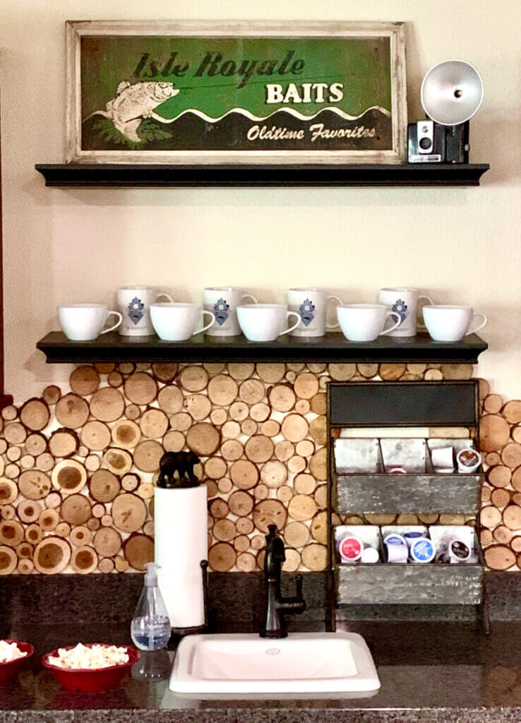 Rustic Lakehouse Cabin Coffee Station