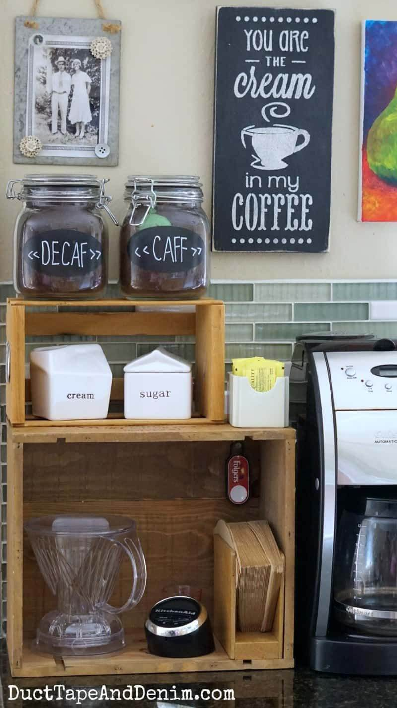 Great Crates Small Home Coffee Station