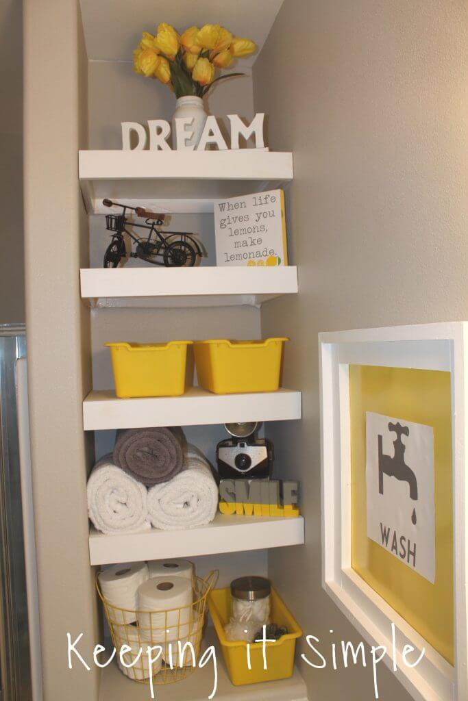 Classic White Cubby Shelves in a Nook