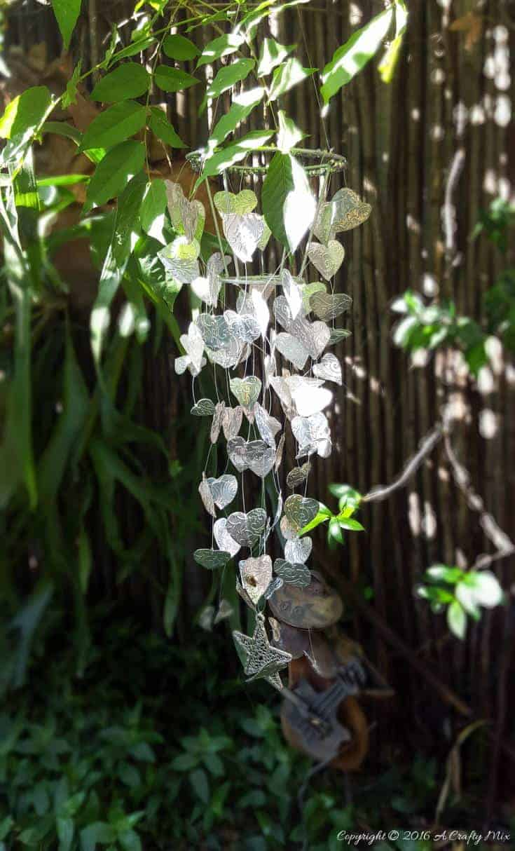 Spectacular Silver Bleeding Hearts Handmade Wind Chime