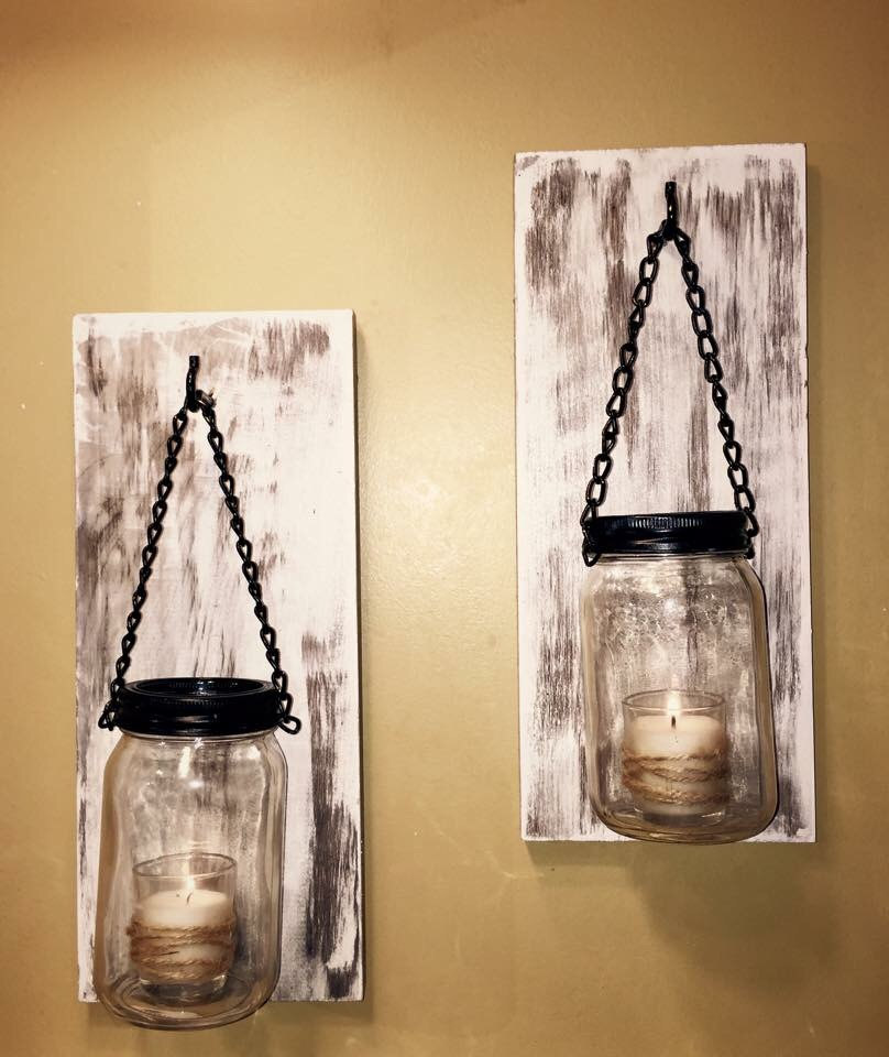 Hillbilly Mason Jar Sconces