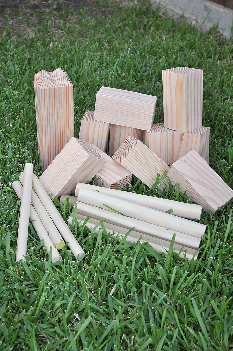 Make Your Own Kubb Lawn Game