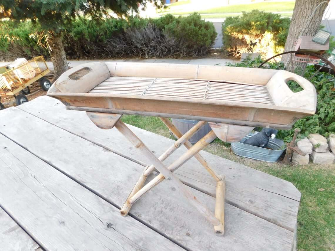 A Bamboo Table For That Tropical Flair