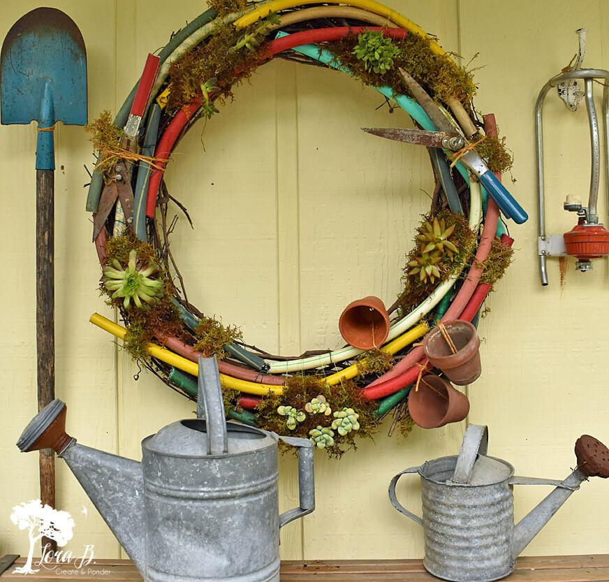 Life's a Garden so Dig this Gardener's Delight Wreath