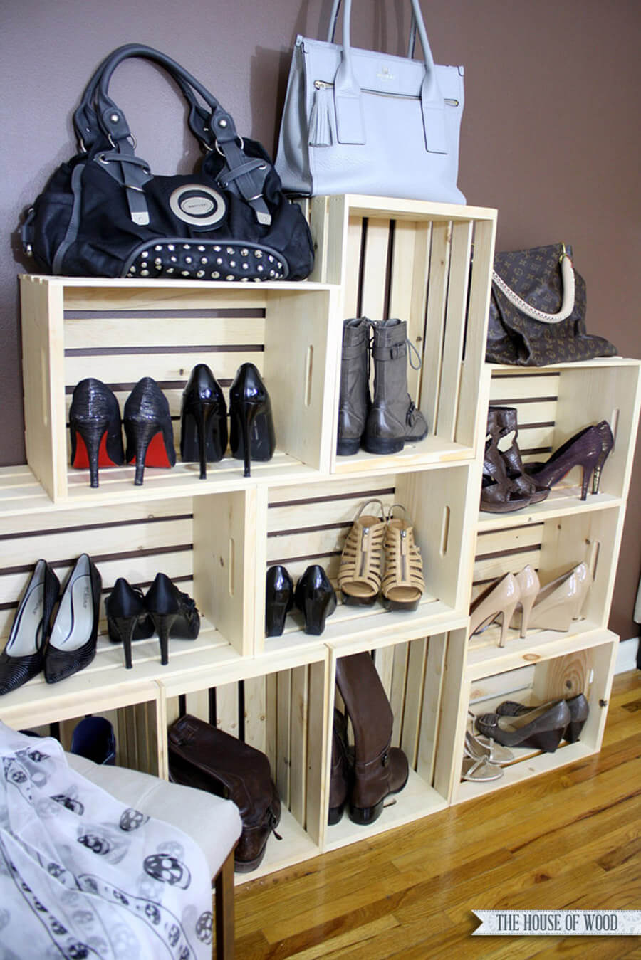 Customized Wooden Shoe Rack Built from Scratch