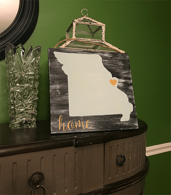 Vinyl Stenciled Wooden Wall Sign