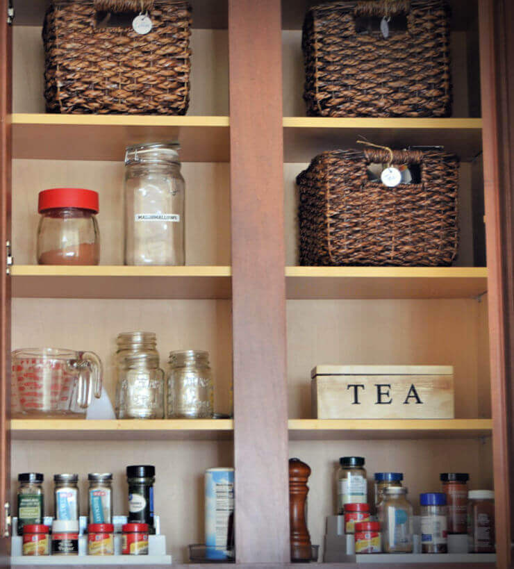 Designated Kitchen Cabinet for Tea and Java