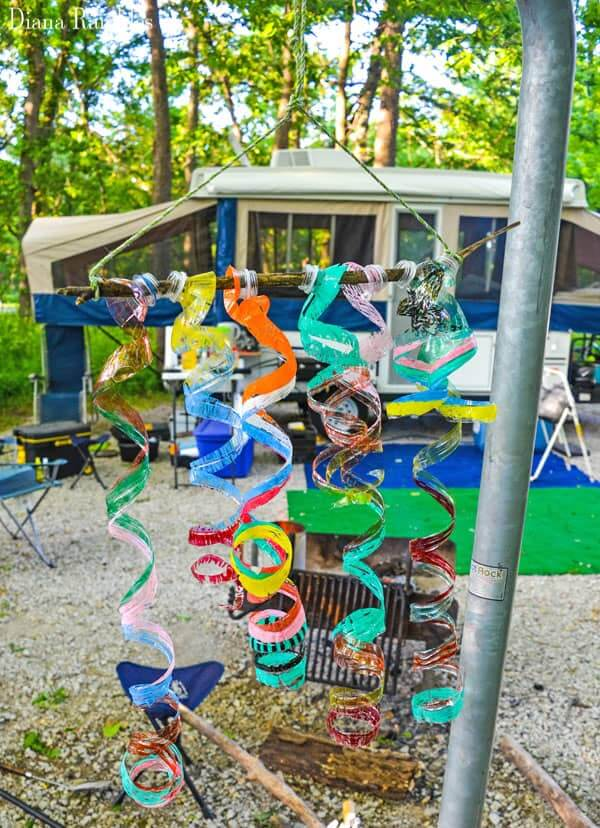 Silly and Spiraling Out-of-Control Colorful Wind Chime
