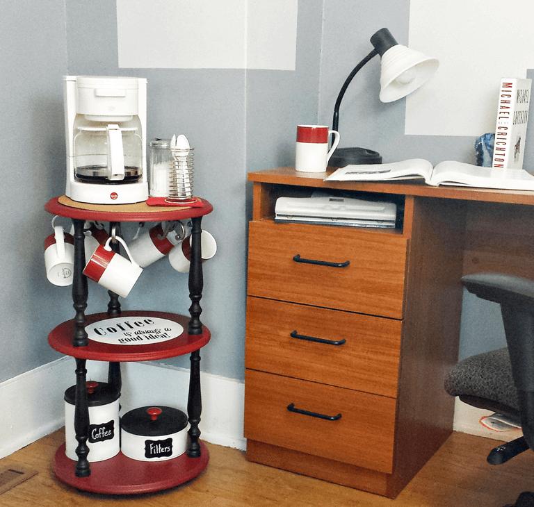 Home Office Corner Coffee Station