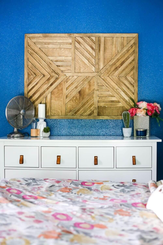 Geometrically Patterned Wooden Wall Art