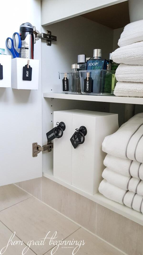 Bathroom Cabinet Organization and Storage Solutions