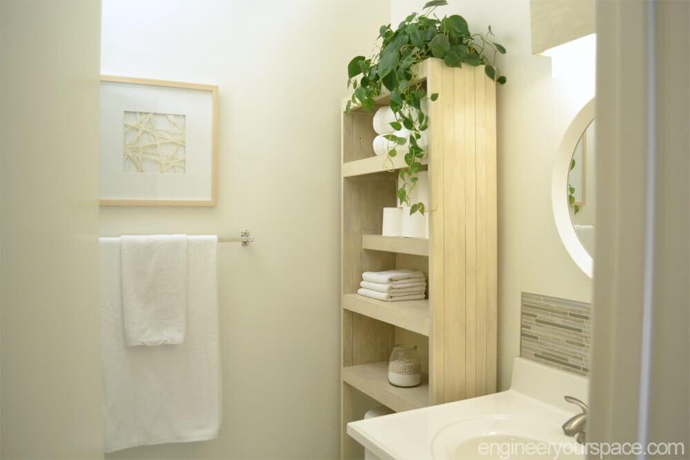 Bookshelf Bathroom Storage for Easily Accessible Necessities