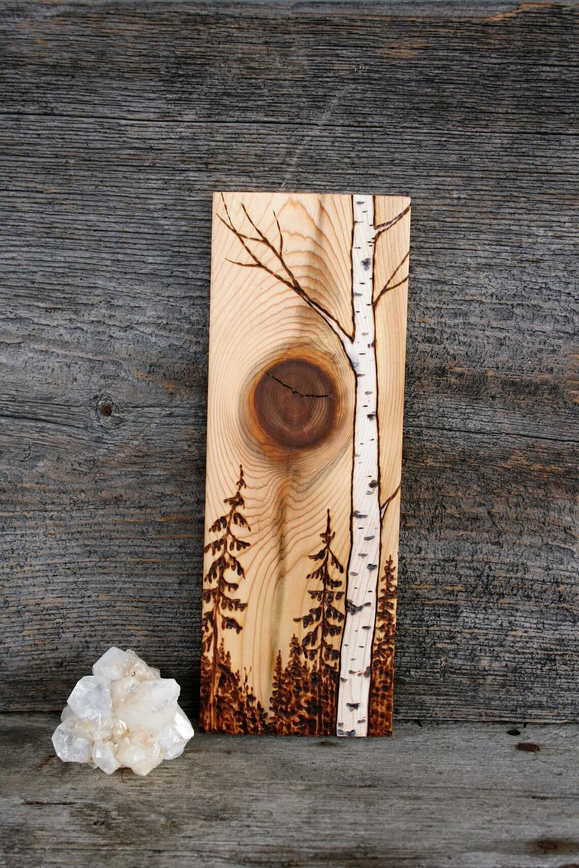 Wood Burned Glowing Sun Art Piece