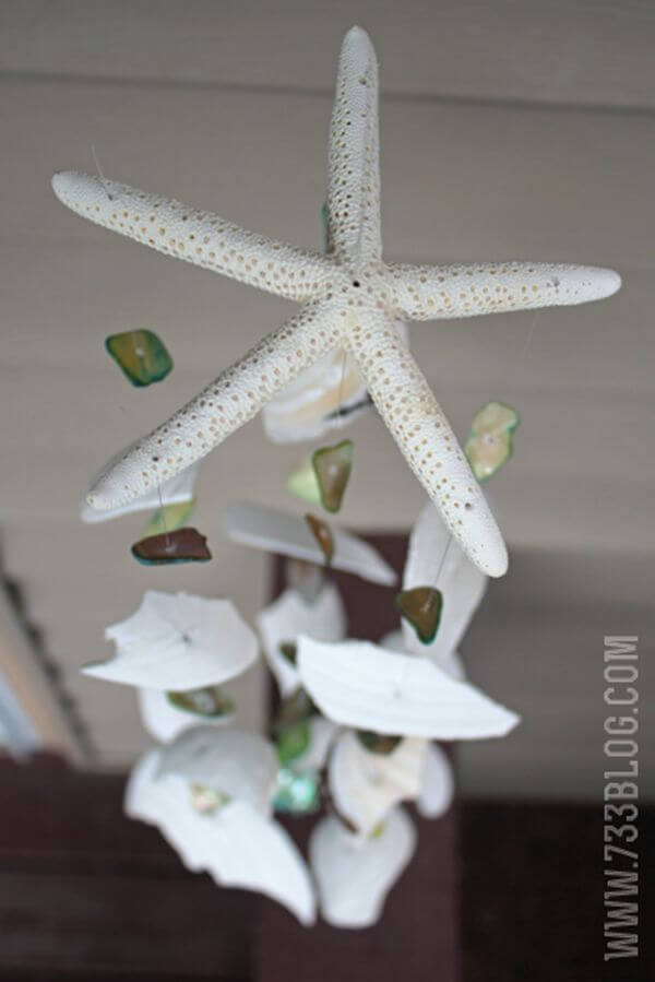 Star of the Show Shell and Rock Handmade Wind Chime