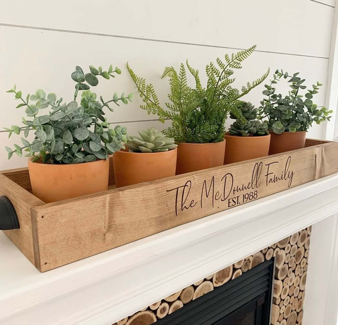 Decorative Solid Wood Personalized Tray