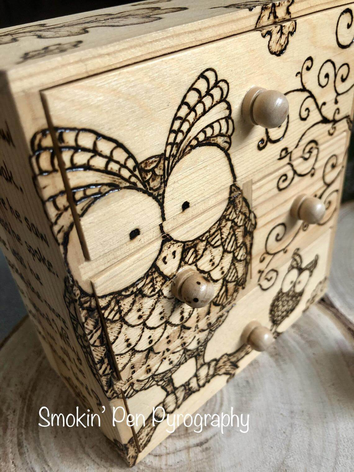 Mini Chest of Drawers with Owls