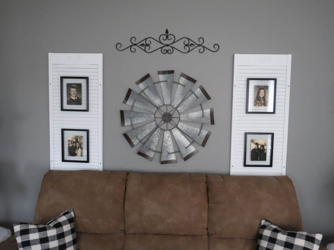Windmill Wrought Iron Wall Décor Combo