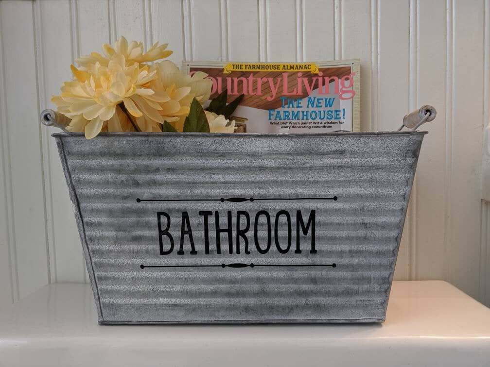 Galvanized Metal Bathroom Bucket