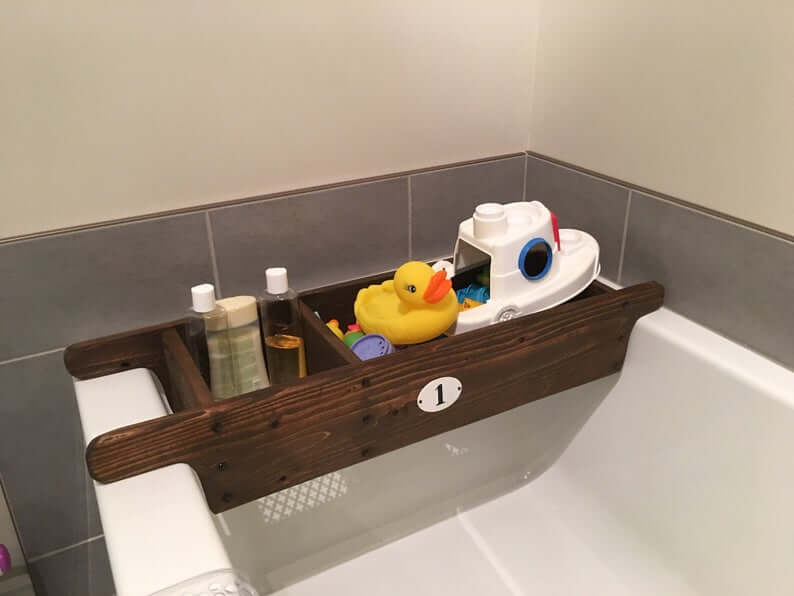 Bathtub Wooden Box for Bath Accessories