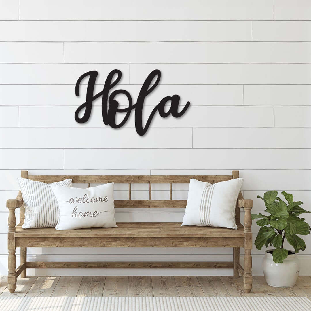 Hola Metal Welcoming Wall Art