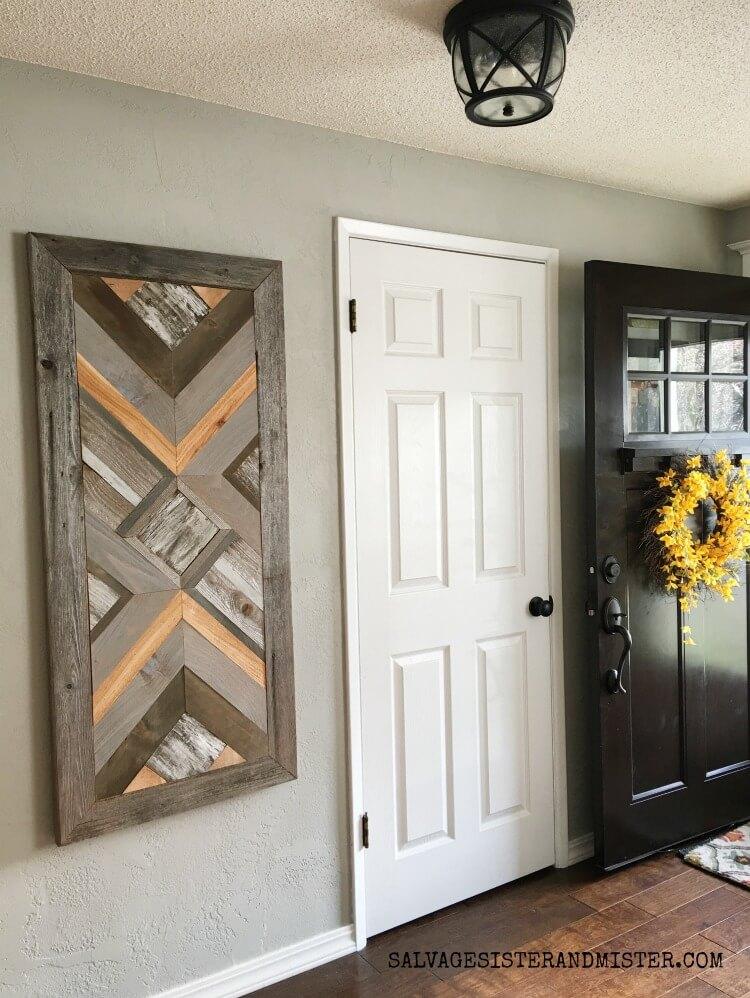 Cardboard Framed Wooden Quilt Art