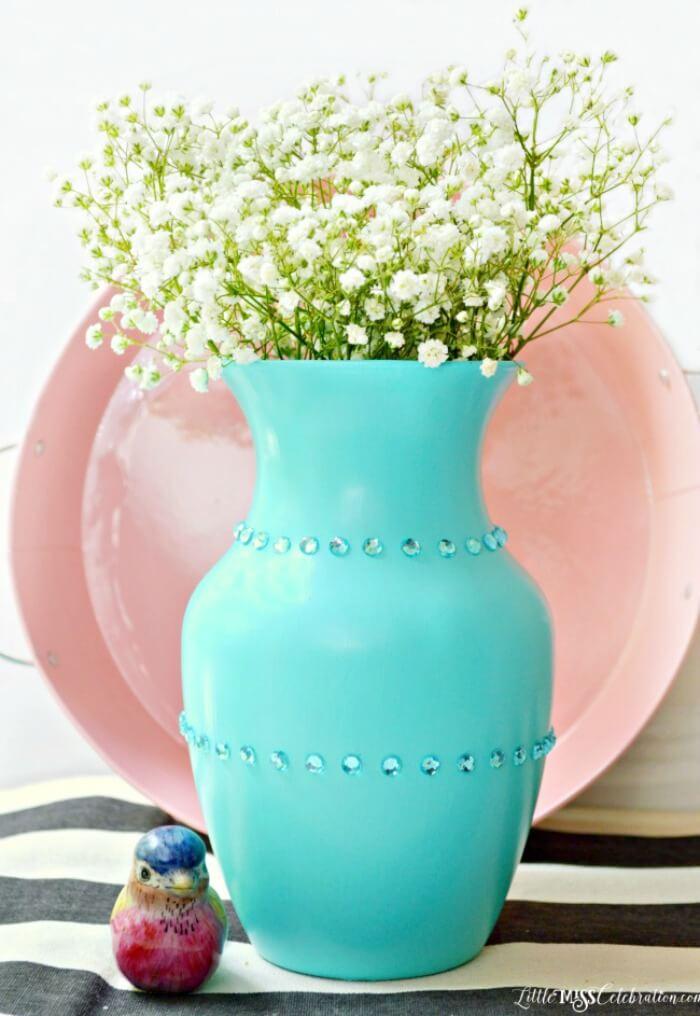 Trendy DIY Glass Vase Makeover