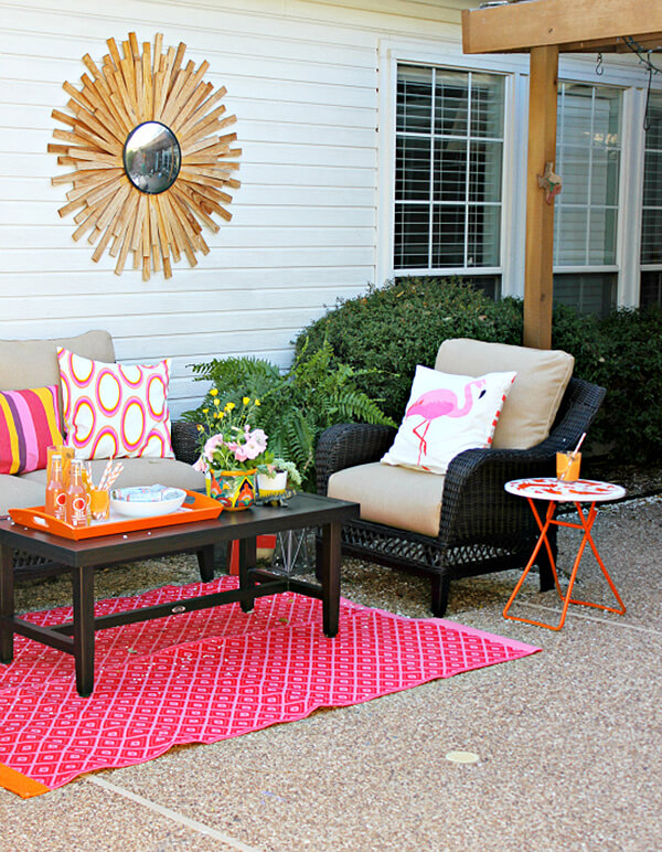 Bright and Bold Garden Patio Creation