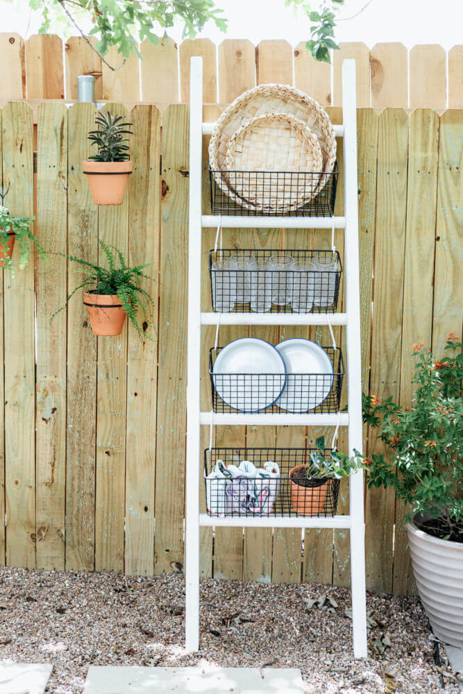 Creative Ladder Shelving Unit