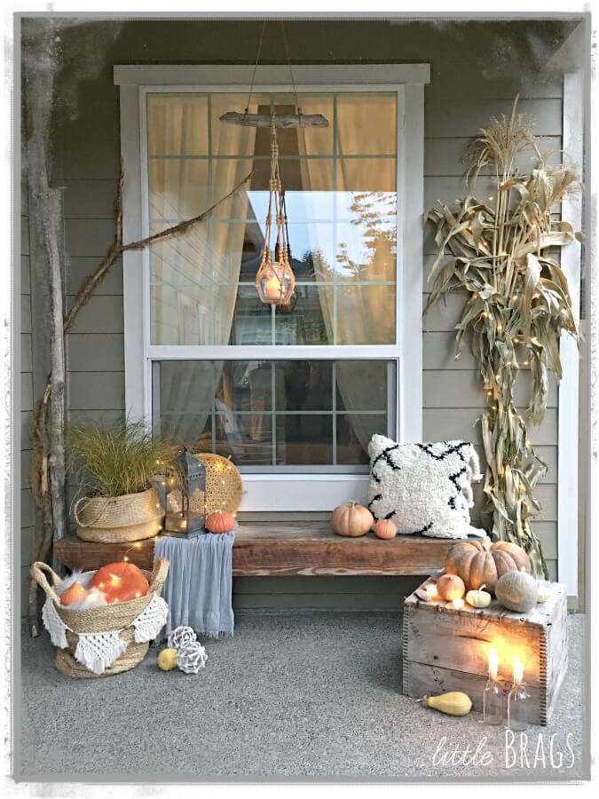 Light Up the Night Fall Porch Decor