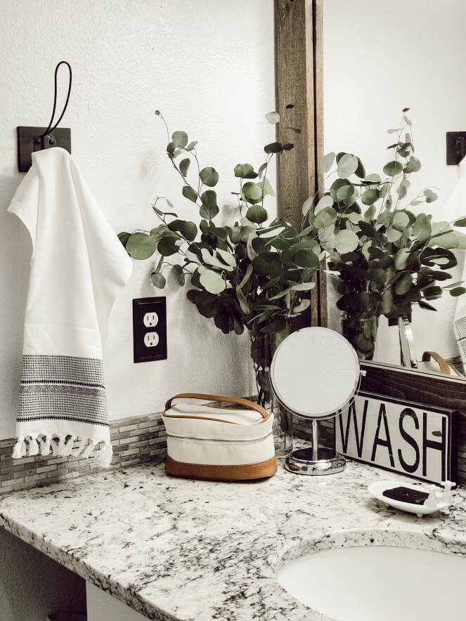 Modern Industrial Black and White Wash Room