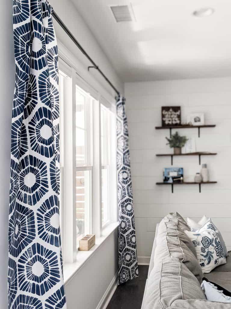 Soft Double Delightful Hexagon Stencil Curtain