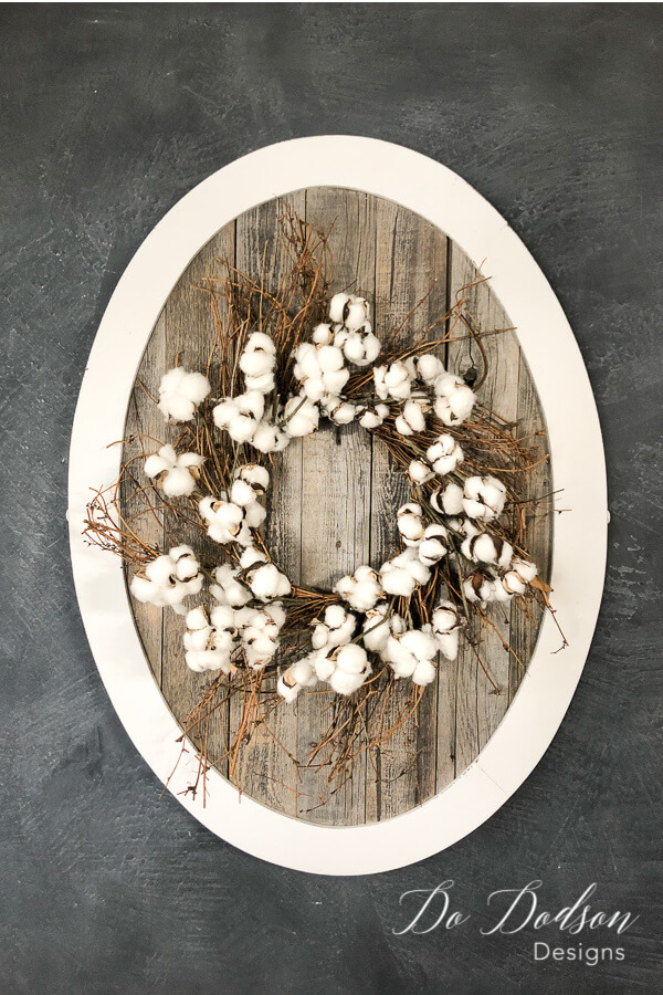 A Wreath of Natural Cotton Branches