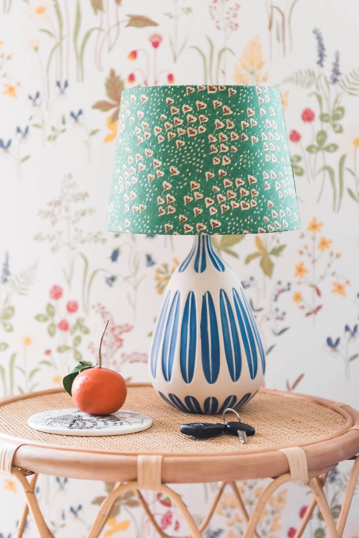 DIY Bohemian Fabric Lampshade
