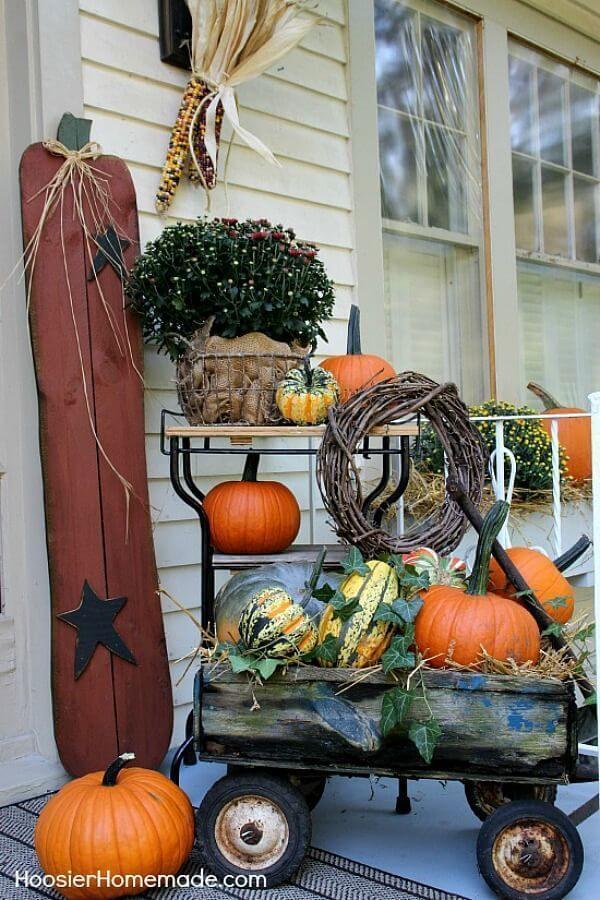 Primitive Country Tall Pumpkin Porch Companion