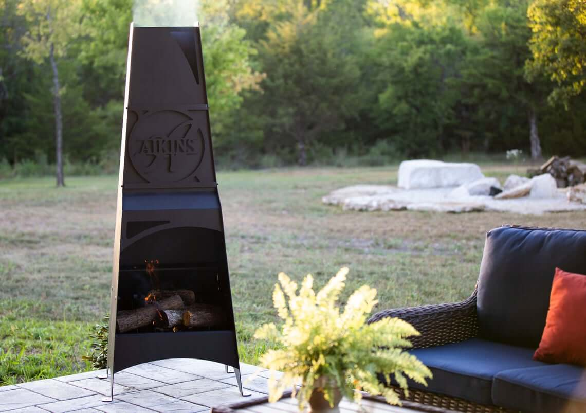 Personalized Chiminea Metal Fire Pit