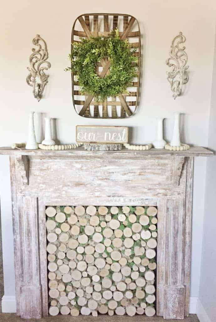 Charming and Filled with Character Faux Fireplace
