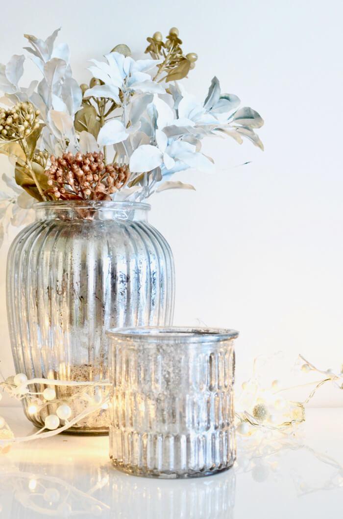 Mercury Glass Upcycled Bottle DIY