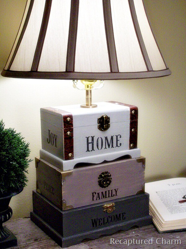 Treasure Your Home and Family with this Unique Stenciled Lamp
