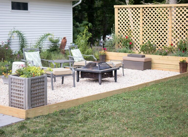 Great Pea Gravel Garden Patio Décor