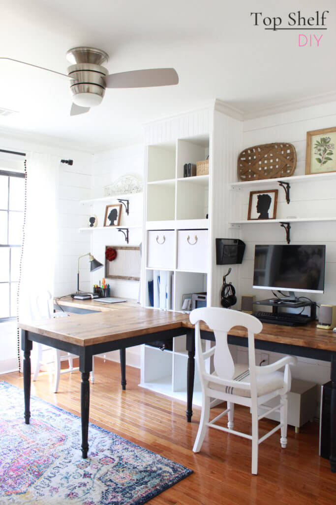 Double-Duty Home Decor Where Home School and Home Office Unite