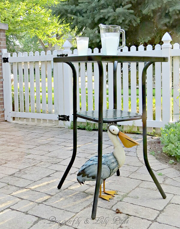 Outdoor Patio Refreshment Table
