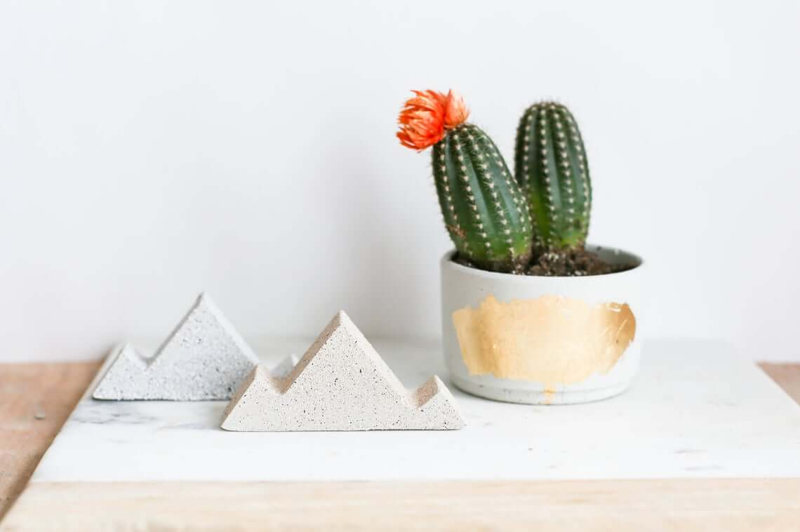 Textured Concrete Design Mountain Paperweights
