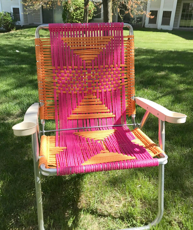 DIY Woven Lawn Chair
