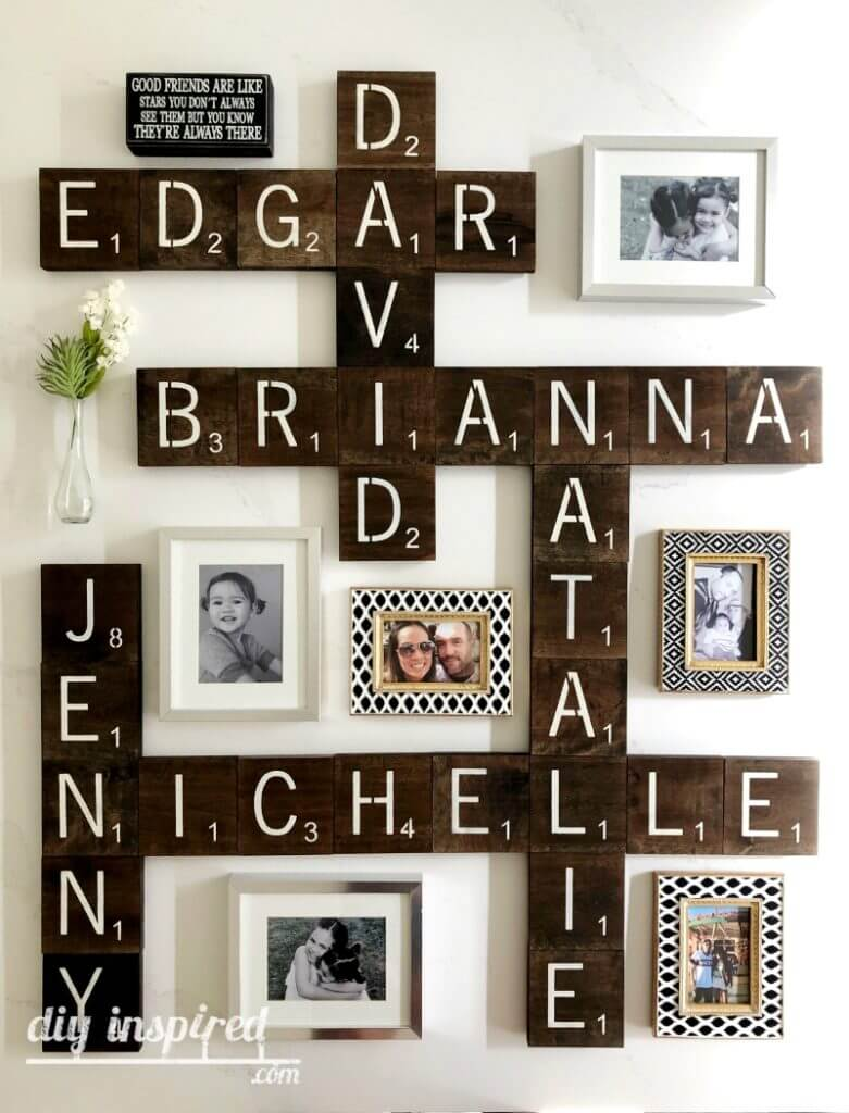 Personalized Wall Art with Vintage Flair