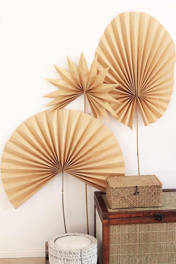 Kraft Paper Dried Palm Fronds