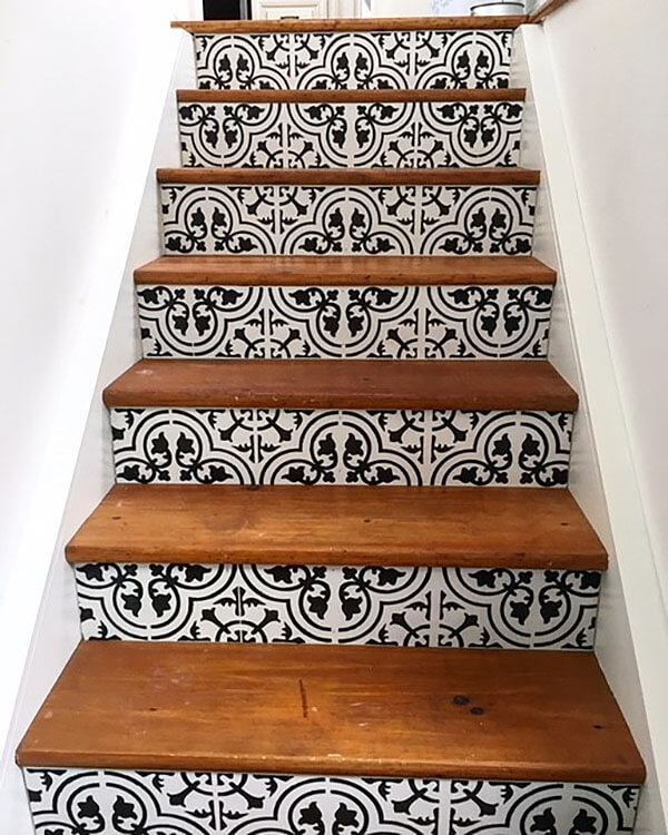 Step-Up Your Stencil Game with Stair Riser Art