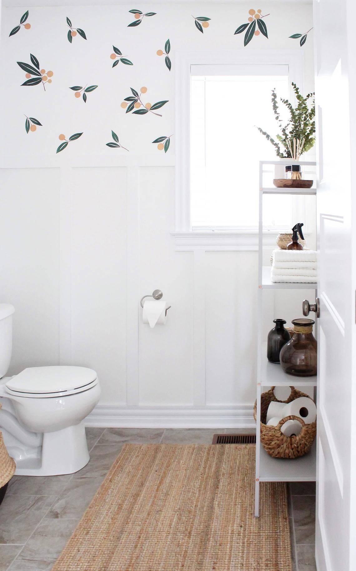 Elevated White Multilevel Bathroom Shelving