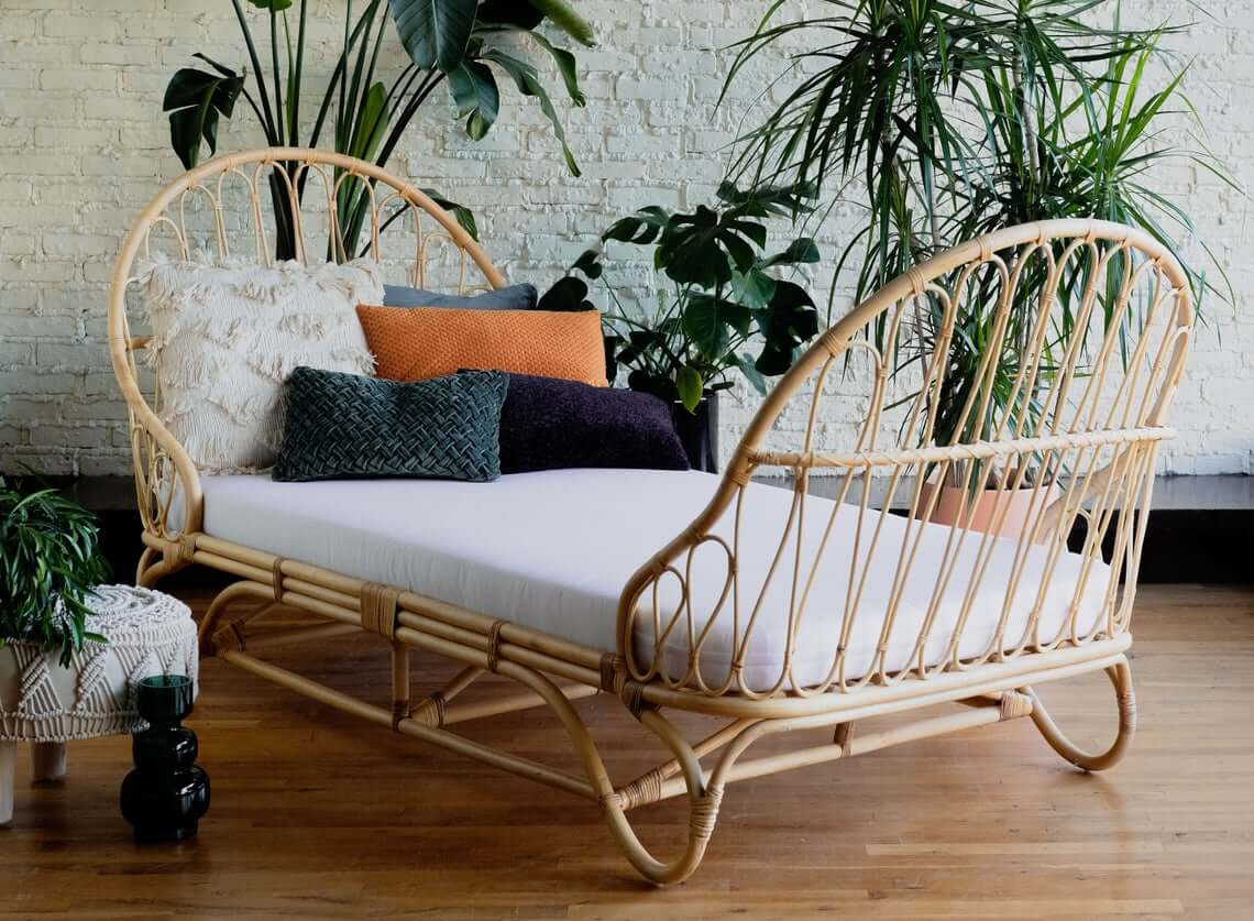 Stunning Rattan Loop Daybed